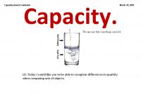 Capacity Lesson 1
