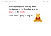Pooh Bear River Lee smartboard