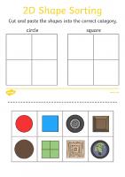 2d Shape Sorting Activity Sheet