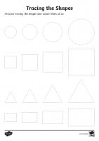 Basic Shape Tracing Worksheet