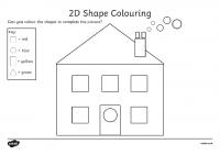 Colour by 2D Shapes