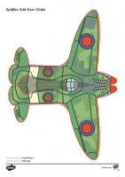 T2-T-803-Simple-WW2-Spitfire-Glider-Activity-Paper-Craft