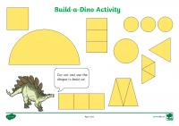 build a shape dinosaur activity