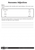 Awesome Adjectives Activity Sheet