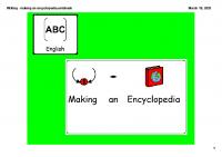 Writing – making an encyclopedia