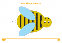 2D Shape Bee Picture Activity Sheets