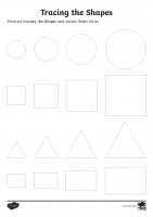 Basic Shape Tracing Worksheet