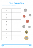 Coin Recognition Activity Sheet