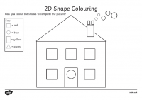 Colour by 2D Shapes