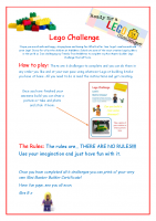 Mini Masterbuilder Lego Challenge