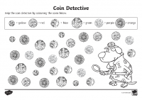 coin detectives activity sheet