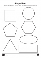 shape hunt worksheet