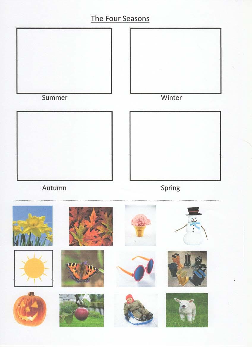 Four Seasons Match Items To Season
