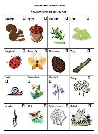 Nature Trail Spotters Sheet