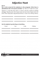 Adjective Hunt Activity Sheet