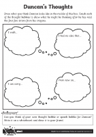 Duncans Thoughts Activity Sheet