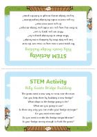 Build a bridge Activity Prompt Card